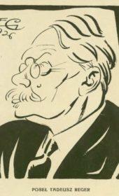 Karykatura Tadeusza Regera